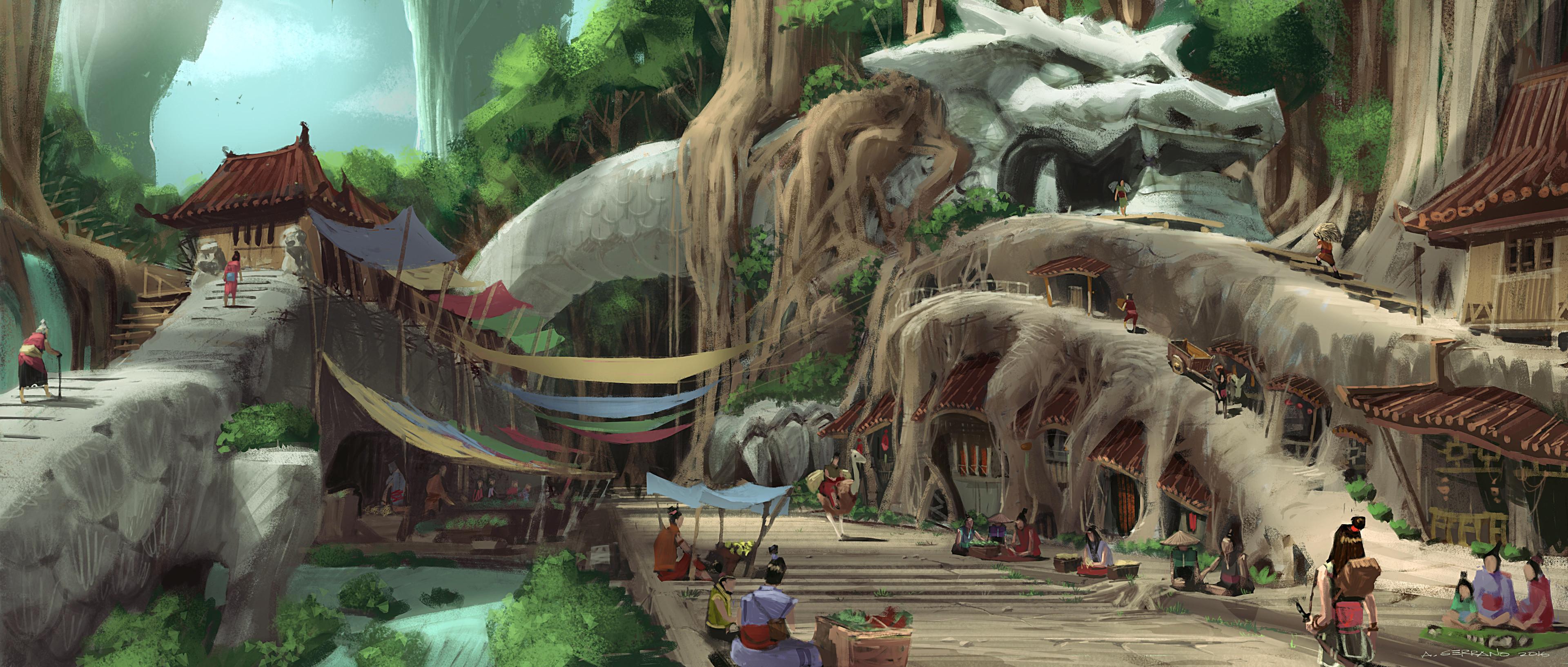 Raya and the Last Dragon Concept Art 06