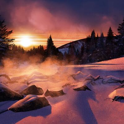 Lee bryan evening snow scene lee bryan art 2021