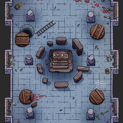 Oixxo art 2021 01 19 dungeon altar