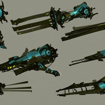 Benedick bana speedpainting scifi ships part2 final lores