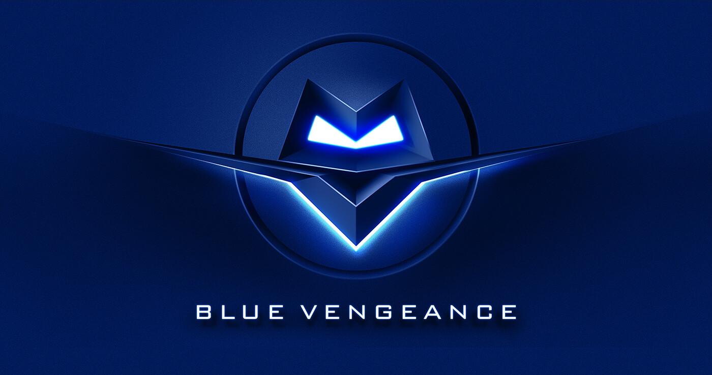 Blue Vengeance - logo wallpaper