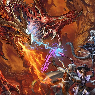 David haire party vs dracolich reduced