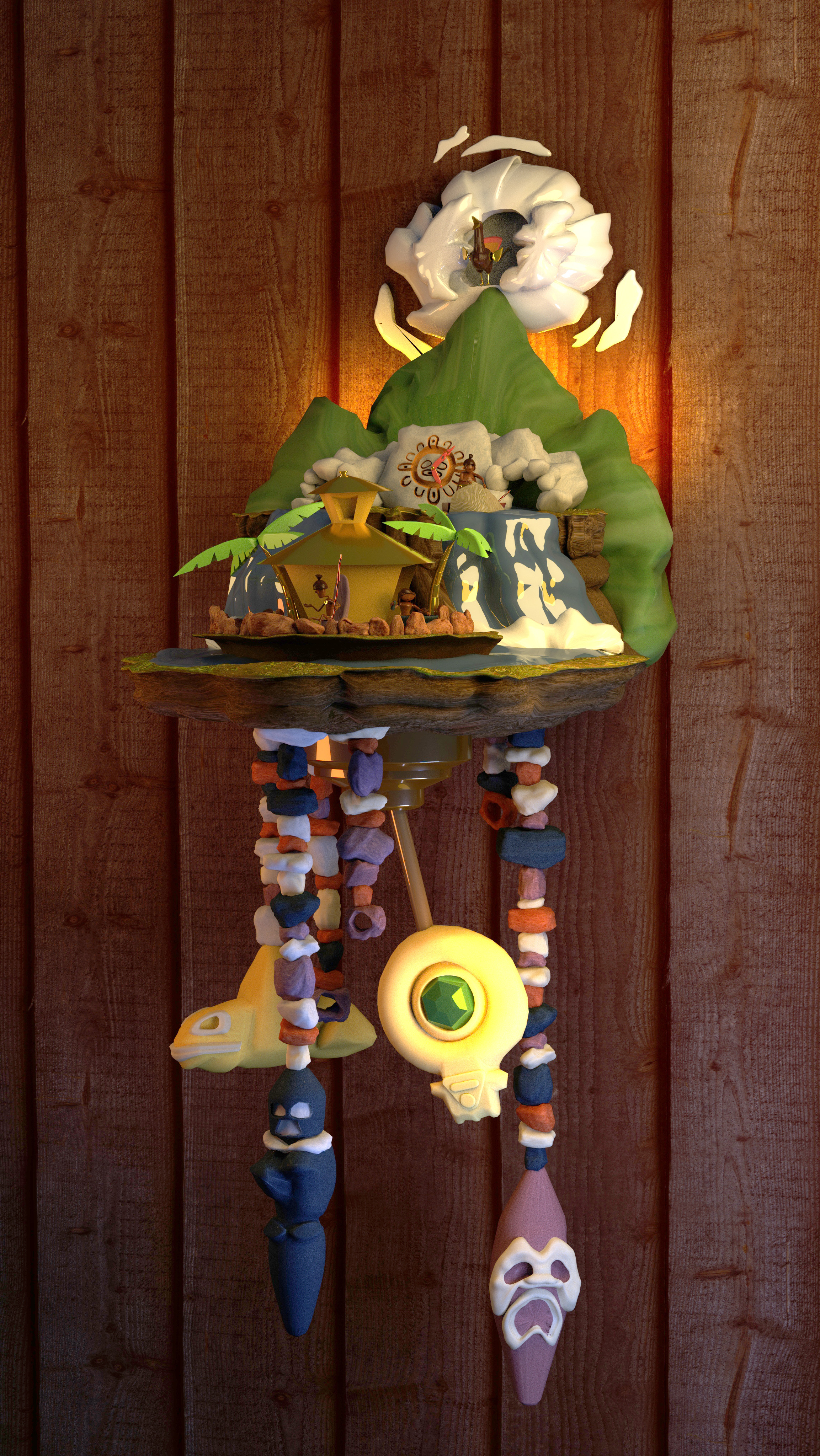 Full side view of Cuckoo Clock