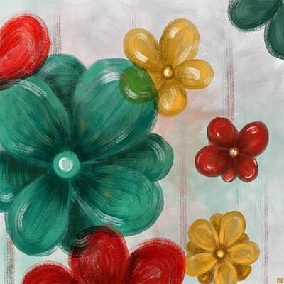 Waterlili jia 20 colour flowers ii 30x30