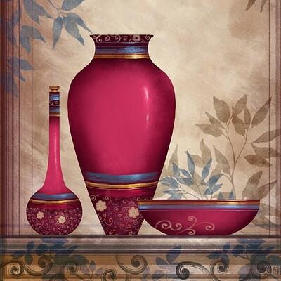 Waterlili jia emperial red iii 24x36 28