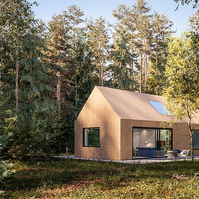 Petra trebjesanin holiday house in the woods 01