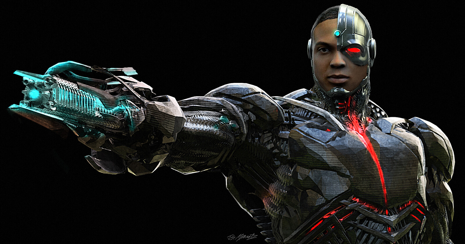CYBORG GUN Design for Justice League