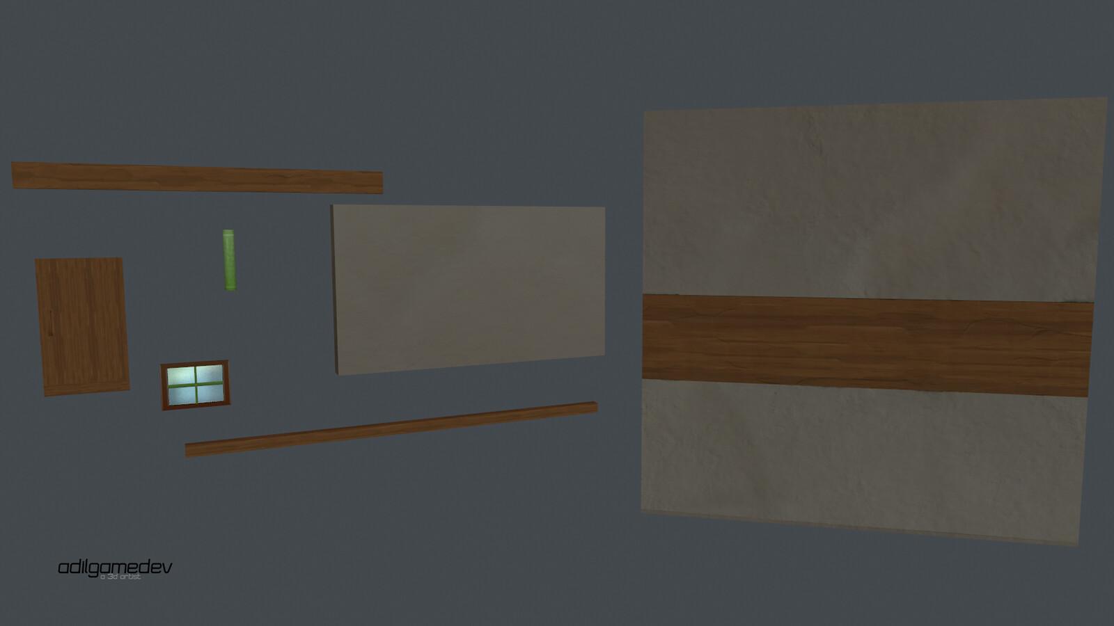 architectural renders + trimsheet