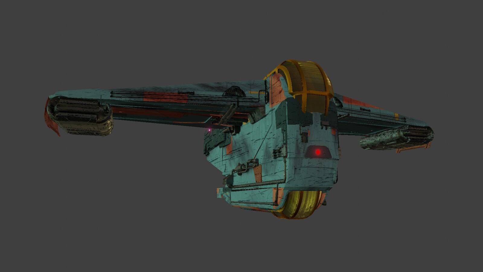 Blender texture of ship