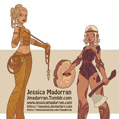 Jessica madorran patreon march 2021 character design tree warriors artstation01