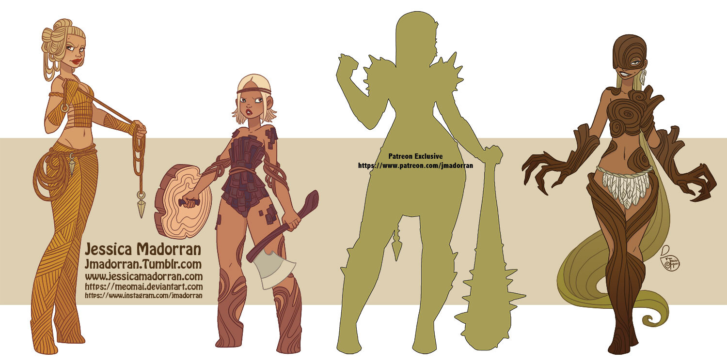 Patreon - March 2021 - Redesign - Tree Lady Warriors