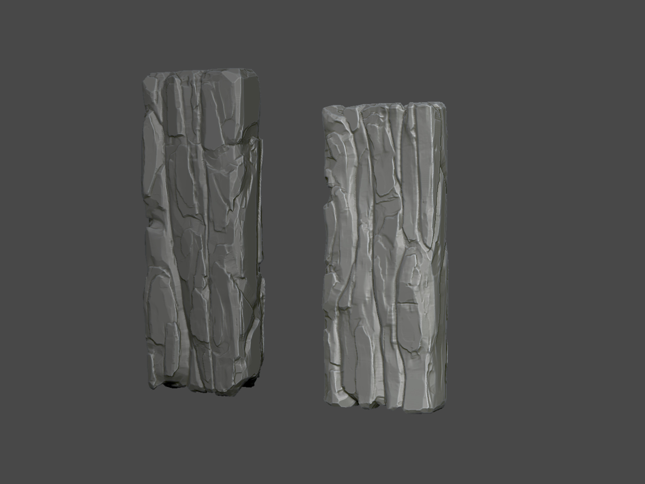 Wooden planks High-poly