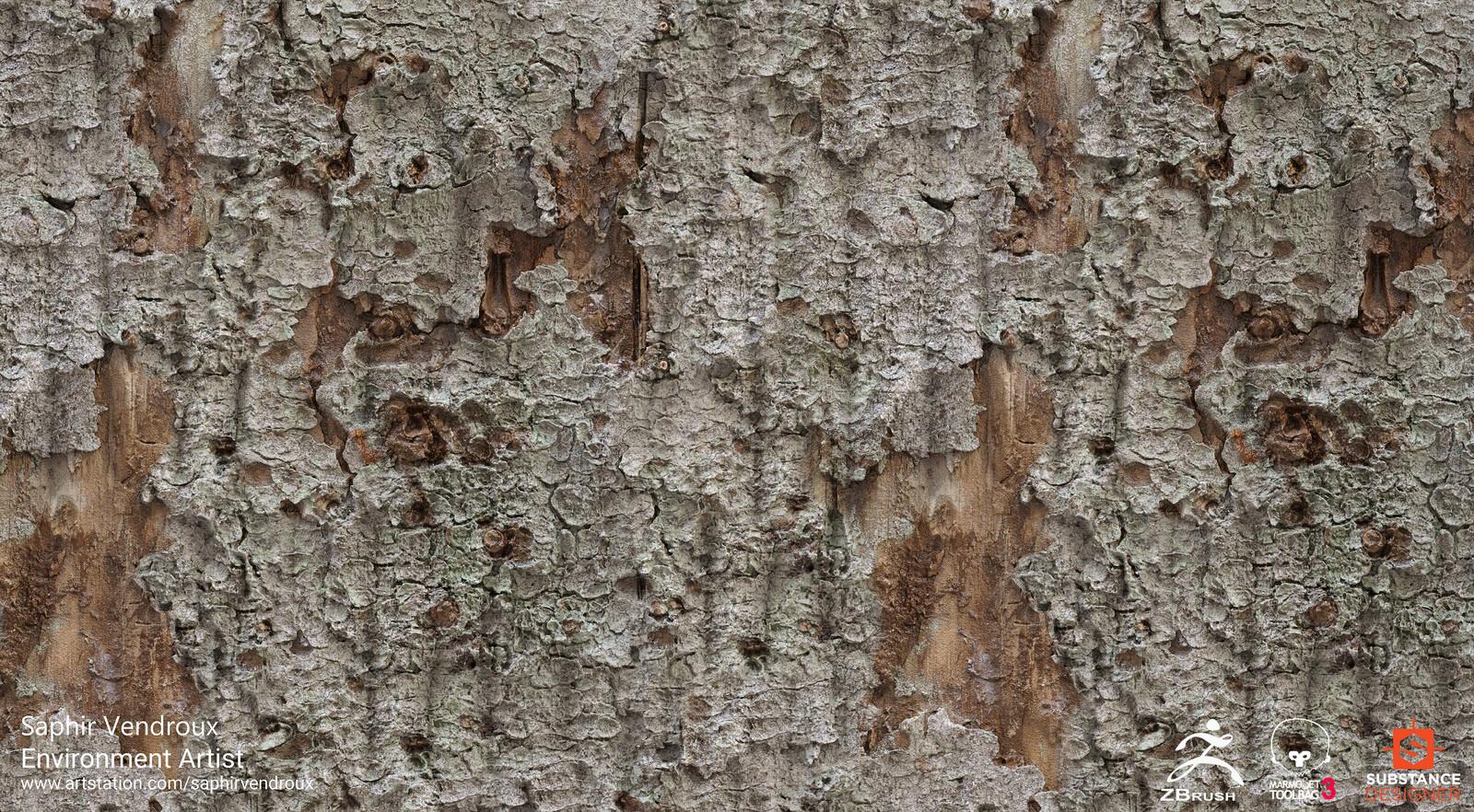 Zbrush Materials - Bark Explorations