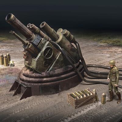 Reuben lane ultra artillery cannon