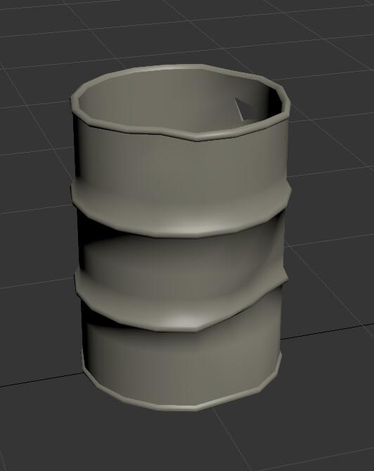 HD Metal Barrel model