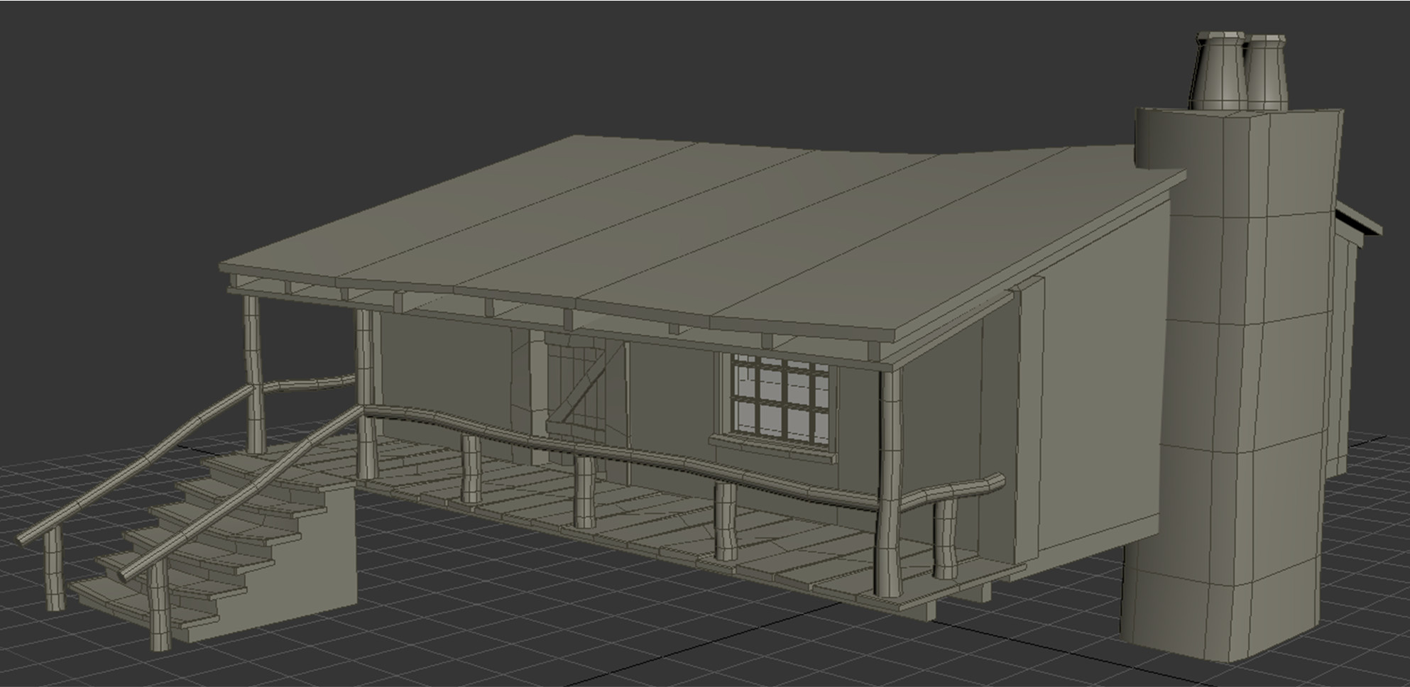 HD Forest Hut Angle 3 with default lighting