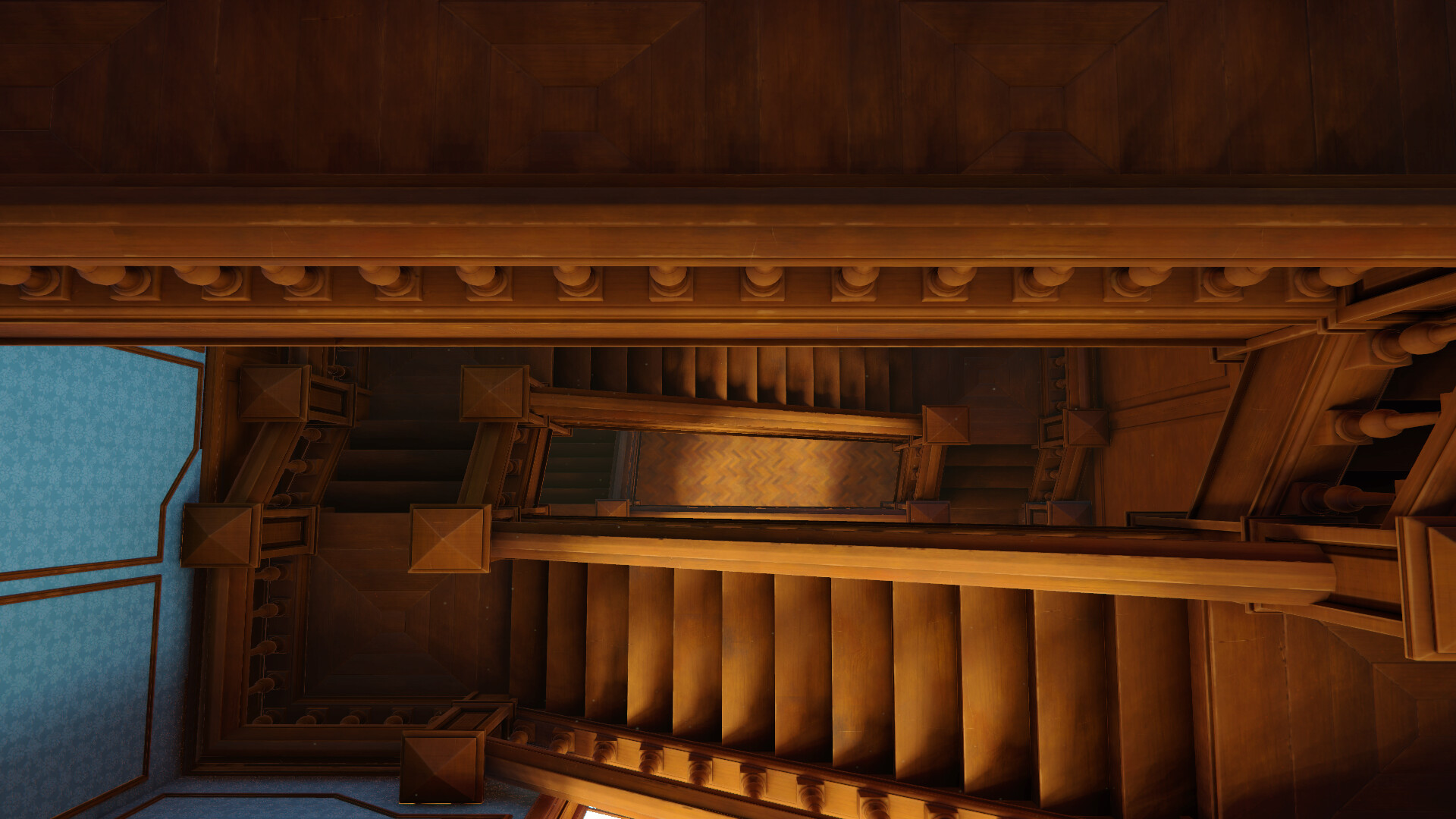 The final render is running on Unity with baked light using the Bakery Asset
