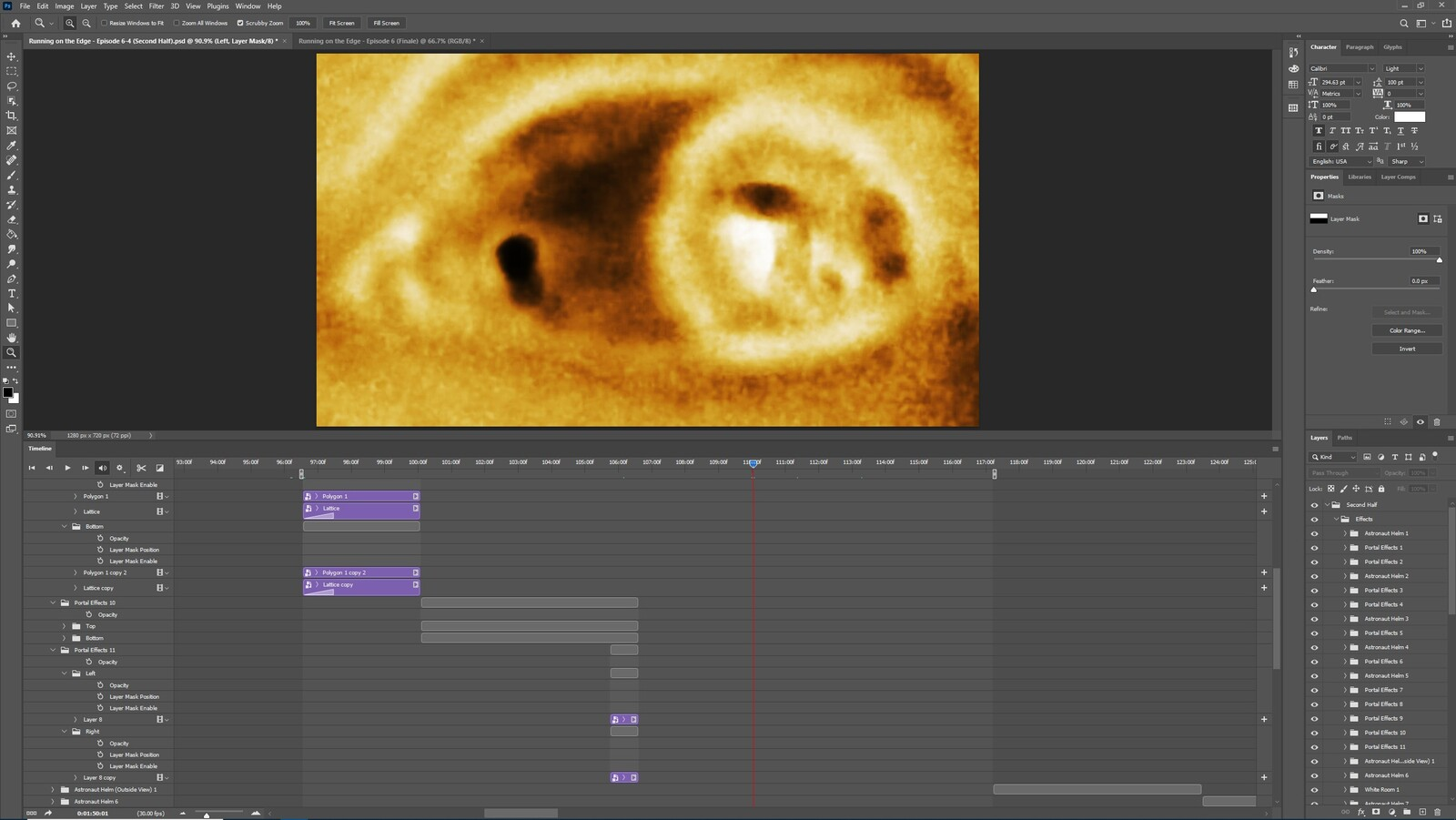 """The """"2020: A Time Oddity, Part 5"""" visual effect within Photoshop video editor"""