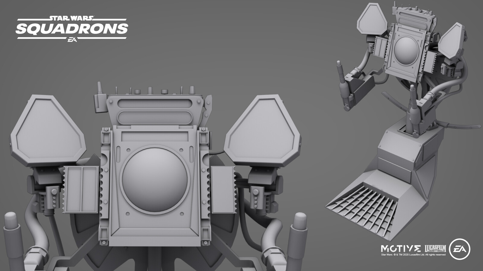 Modeling for the Tie-Fighter cockpit instruments. This mesh is also share in the Tie-Defender and the Tie-Bomber with minor modifications