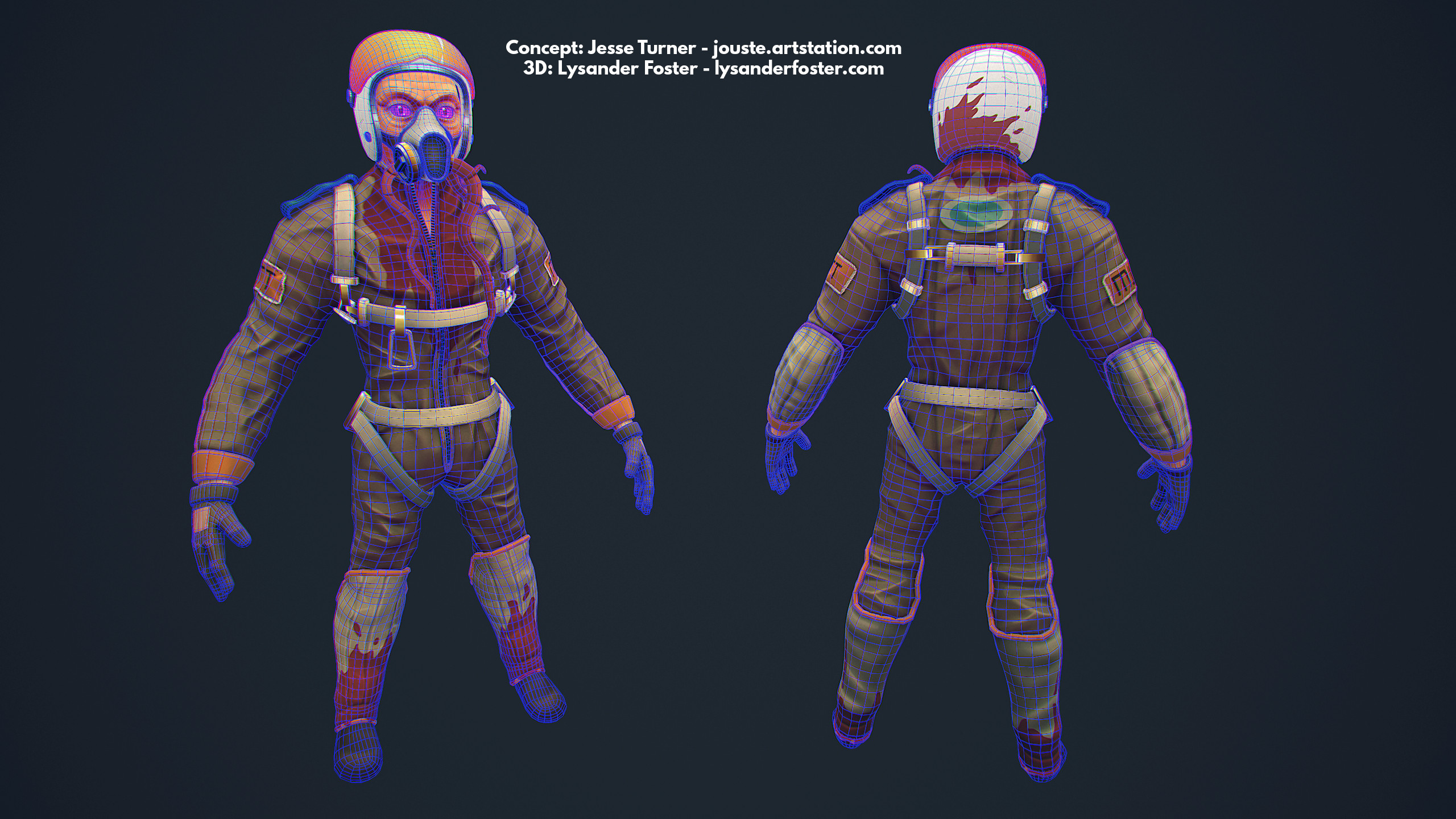 Designed to run in realtime, this mesh has been optmised using a combination of manual and automatic retopology. Saving time in places like the helmet to re-invest in joints such as the fingers.