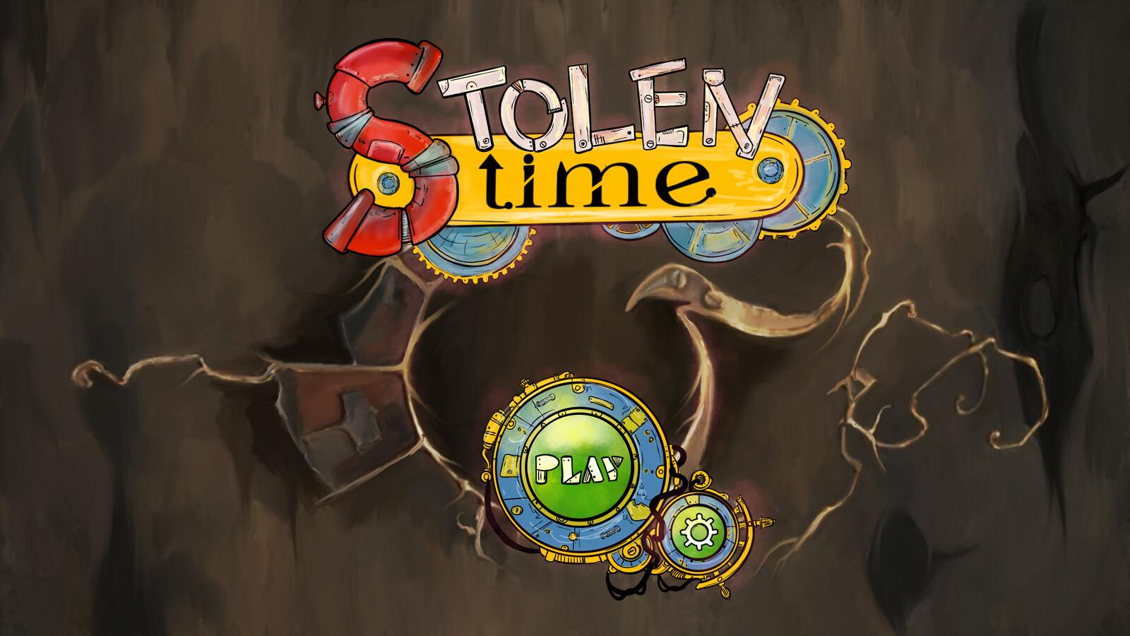 Stolen Time, game screen concept, teaching demo