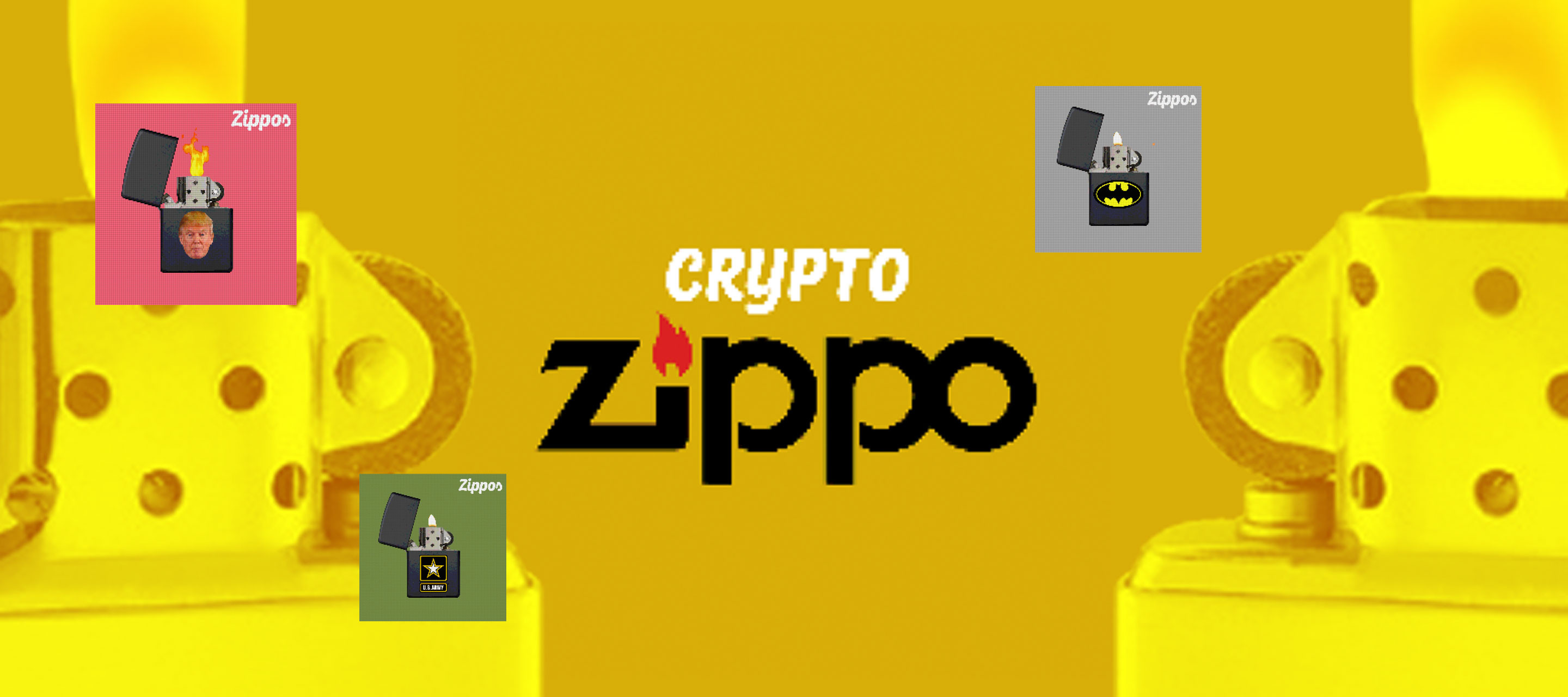 This collection is lit! Zippo is the cult brand for fans of high-quality lighters. This small and rare collection created one pixel at the time it's an homage to this great brand!  https://opensea.io/collection/cryptozippos/