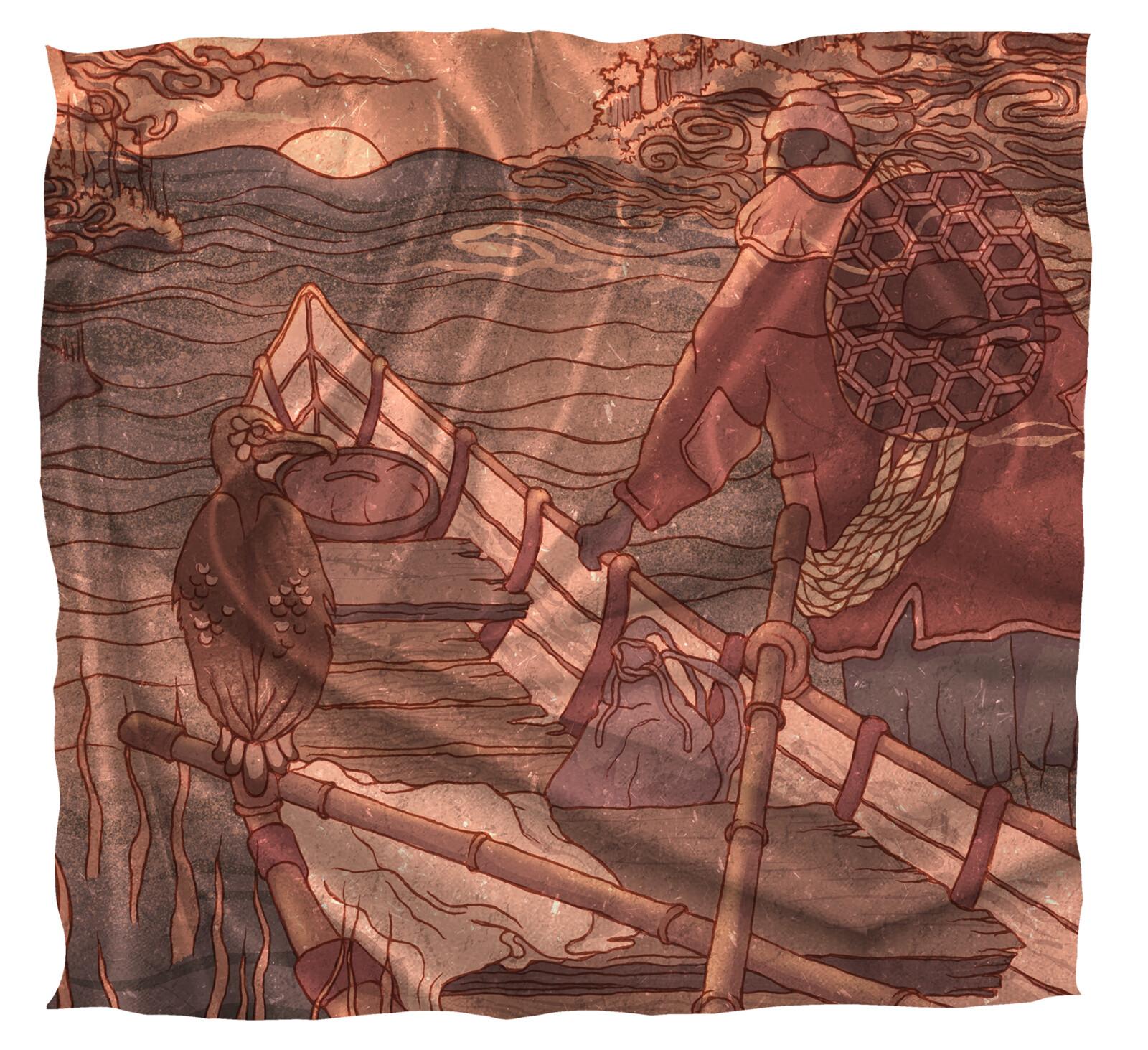 Silk Tapestry Print