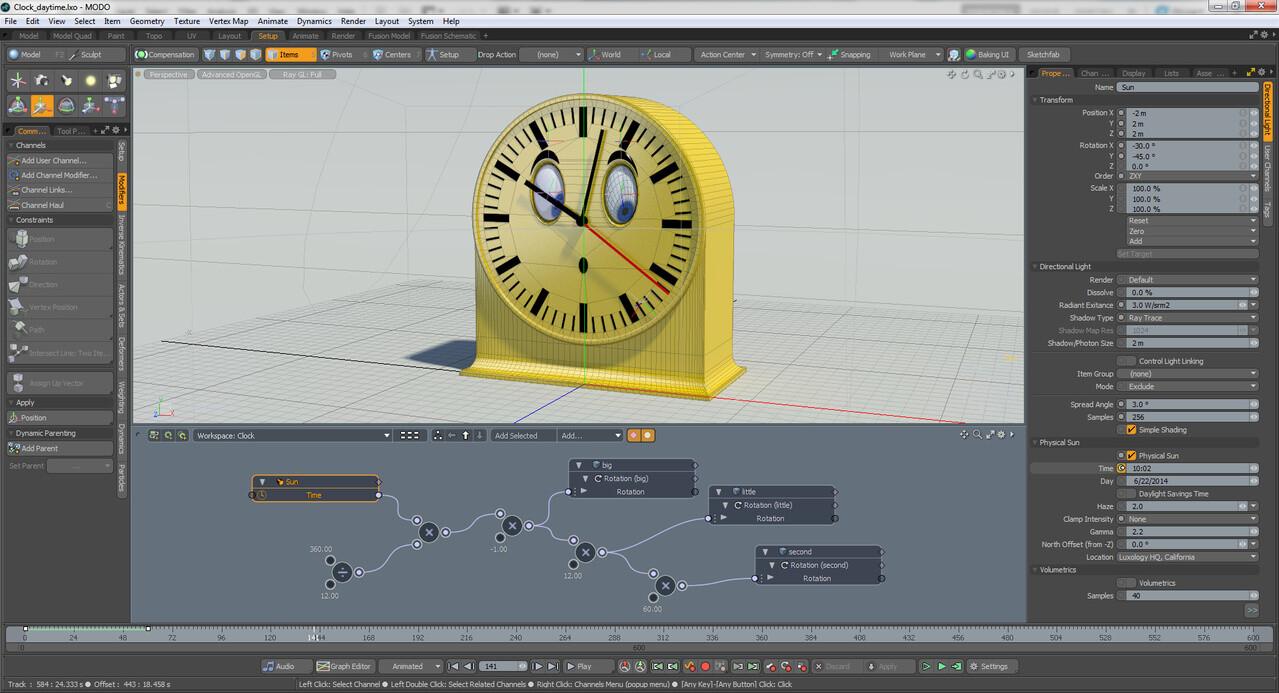 Clock rig