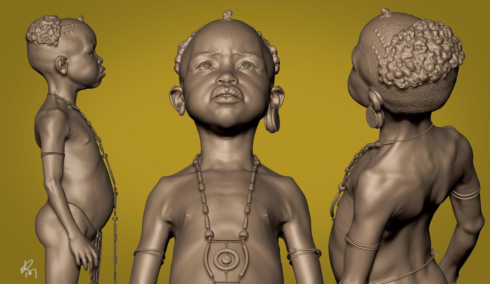 African Kid WIP