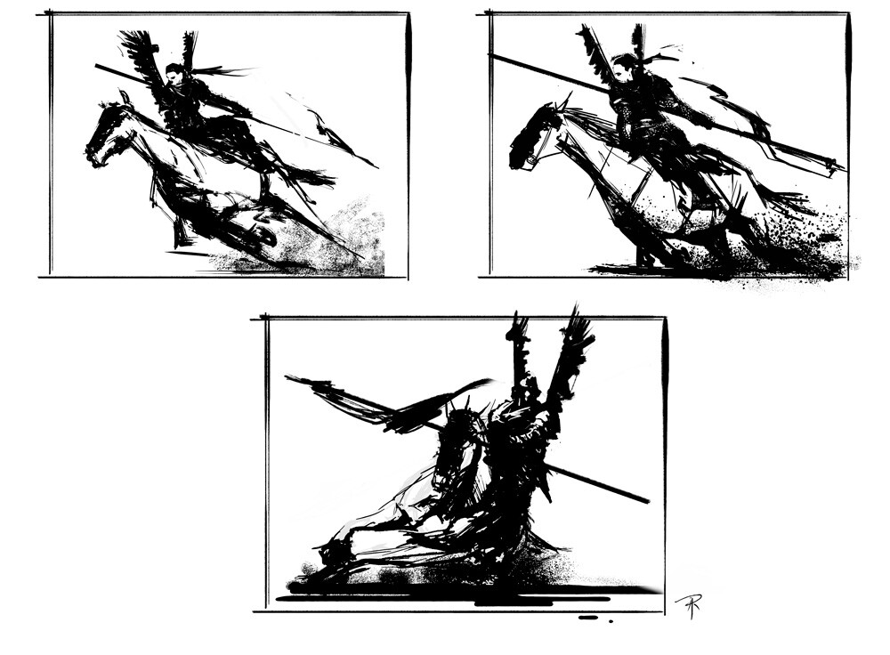 initial pose sketches