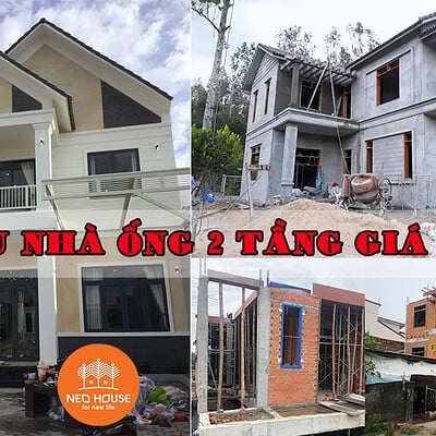 Neohouse architecture nha ong 2 tang gia re anh bia