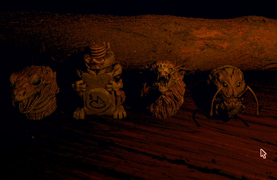 The players collected totem pieces (Ingame)