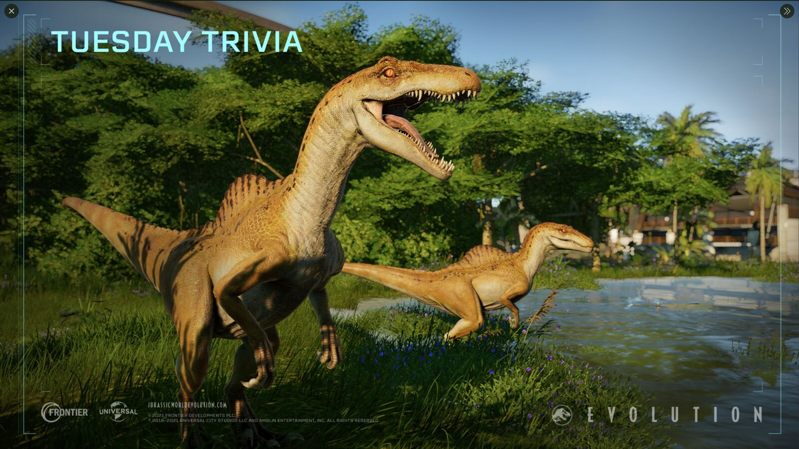 Jurassic World Evolution - Tuesday Trivia Spinoraptor