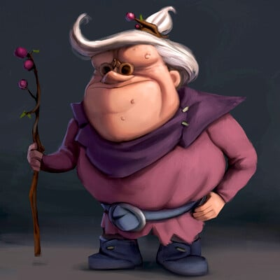 Plum Wizard Character