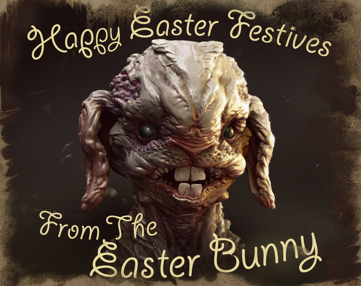 Think about it, all those eggs hidden for billion of people how could one Easter Bunny possibly do that?