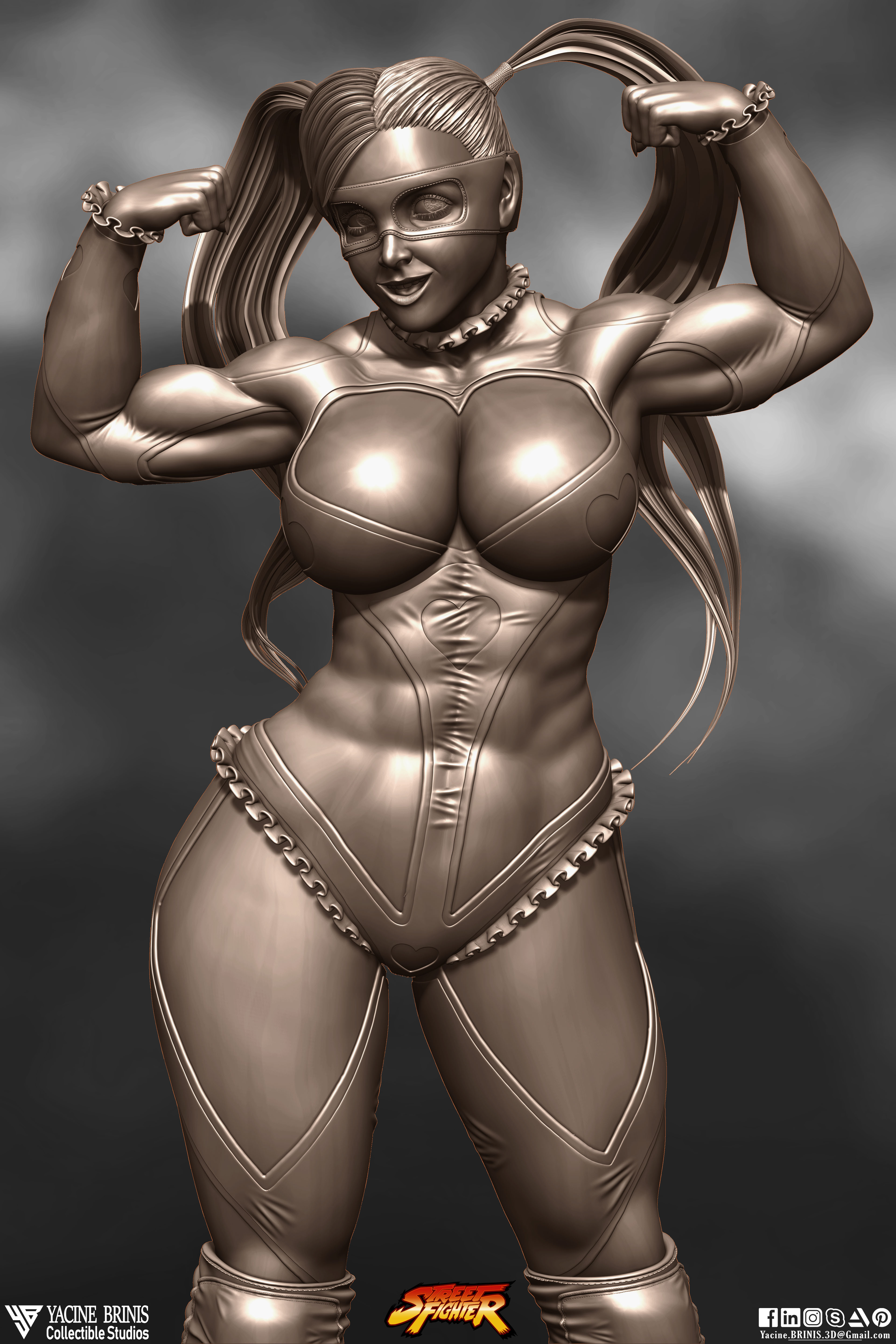 R-Mika Street Fighter-sculpted By Yacine BRINIS Set 03- R 001