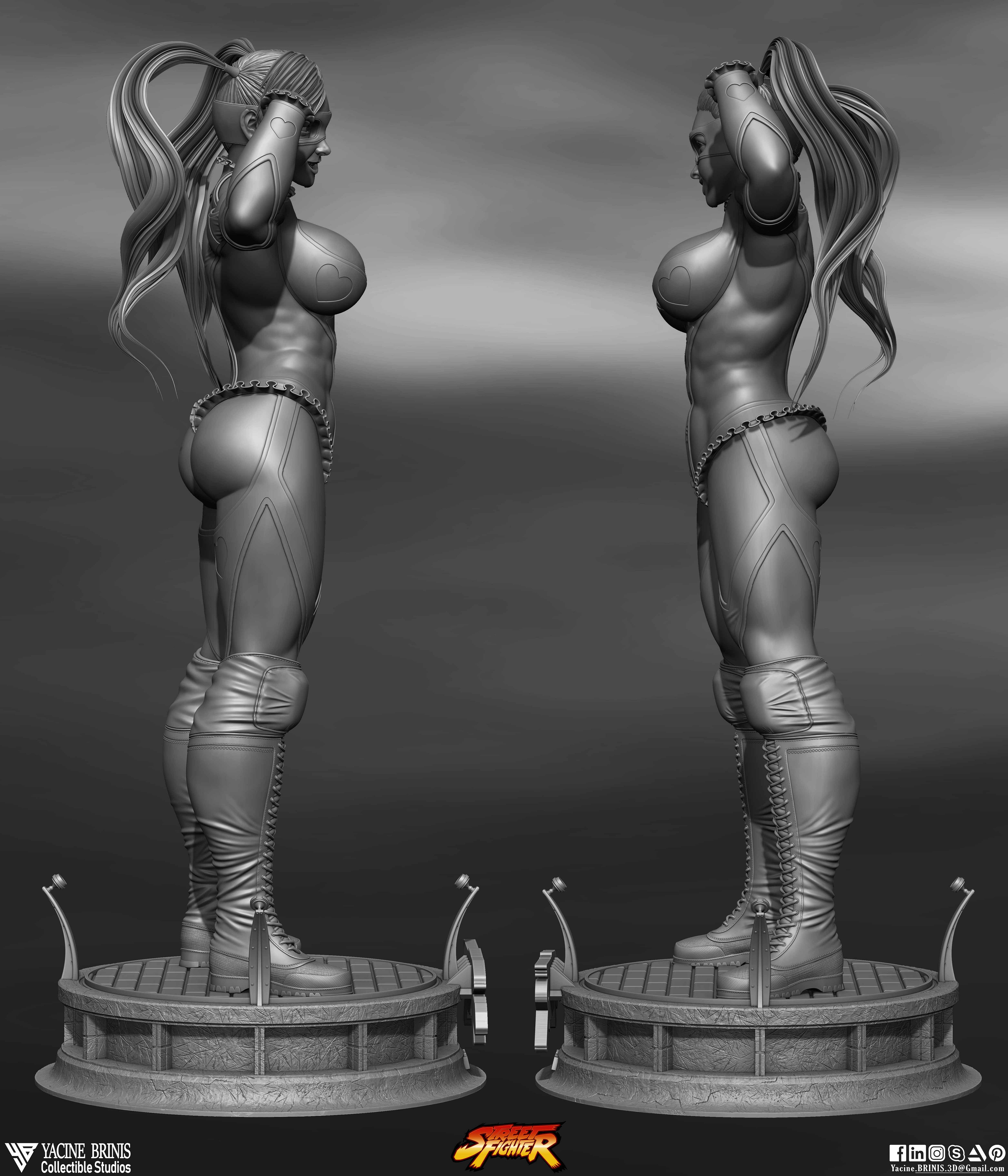 R-Mika Street Fighter-sculpted By Yacine BRINIS Set 04- R 003