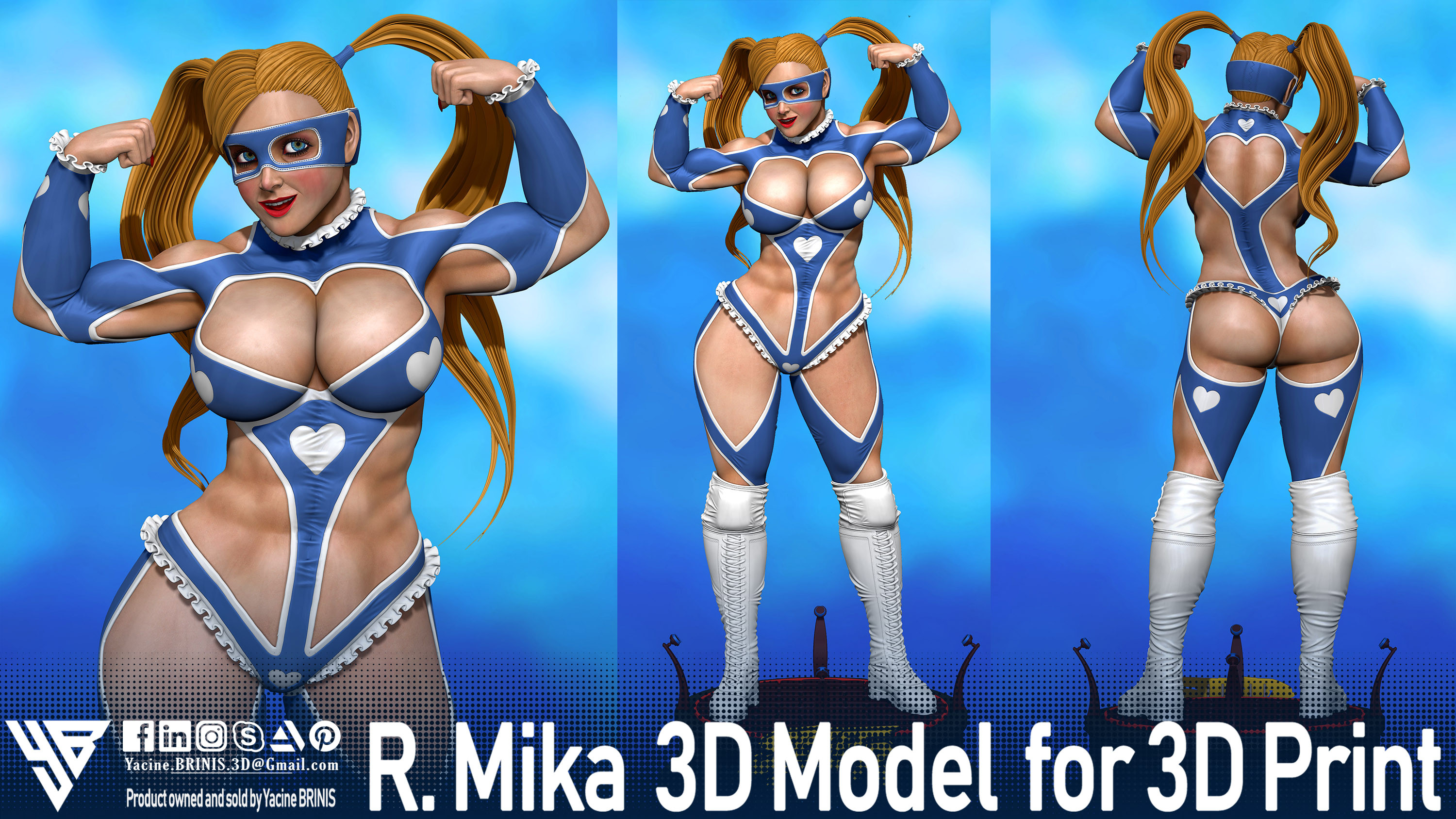 R-Mika Street Fighter-sculpted By Yacine BRINIS Set 05- R 001