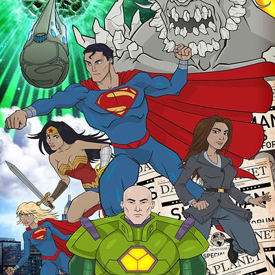 Thorny devil superman poster print