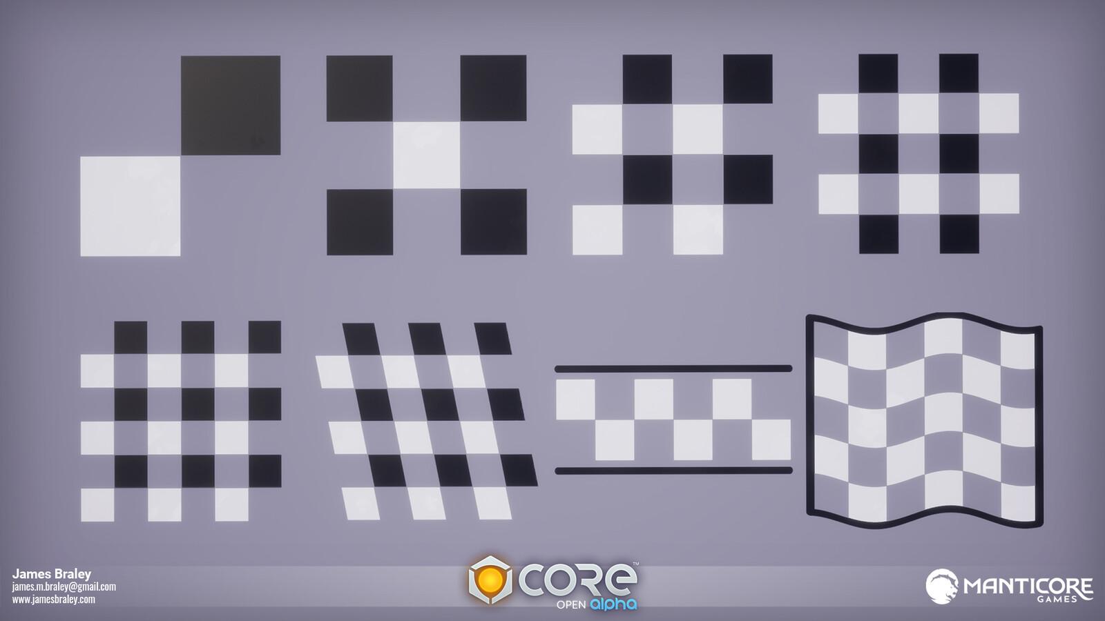 Checkered Vehicle Decals