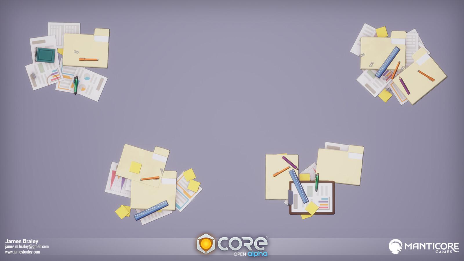 Office Desk Debris Decals (Concepts by Jordan Louie)