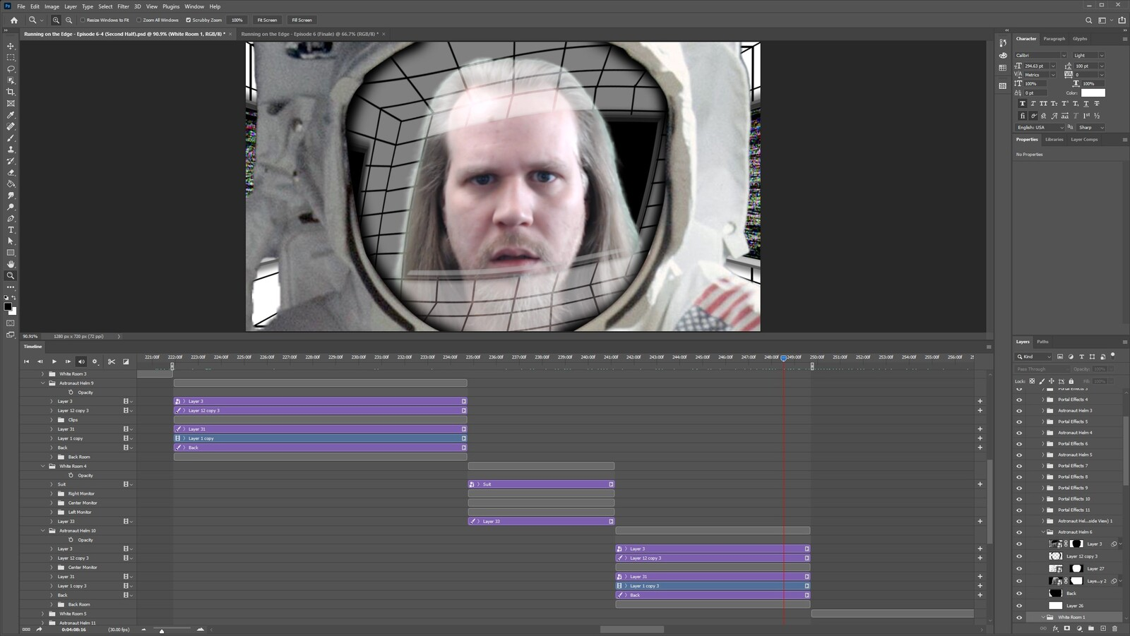 """The """"2020: A Time Oddity, Part 10"""" visual effect within Photoshop video editor"""