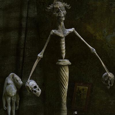 Surajit sen balancing doll digital sculpure surajit sen march2021a low
