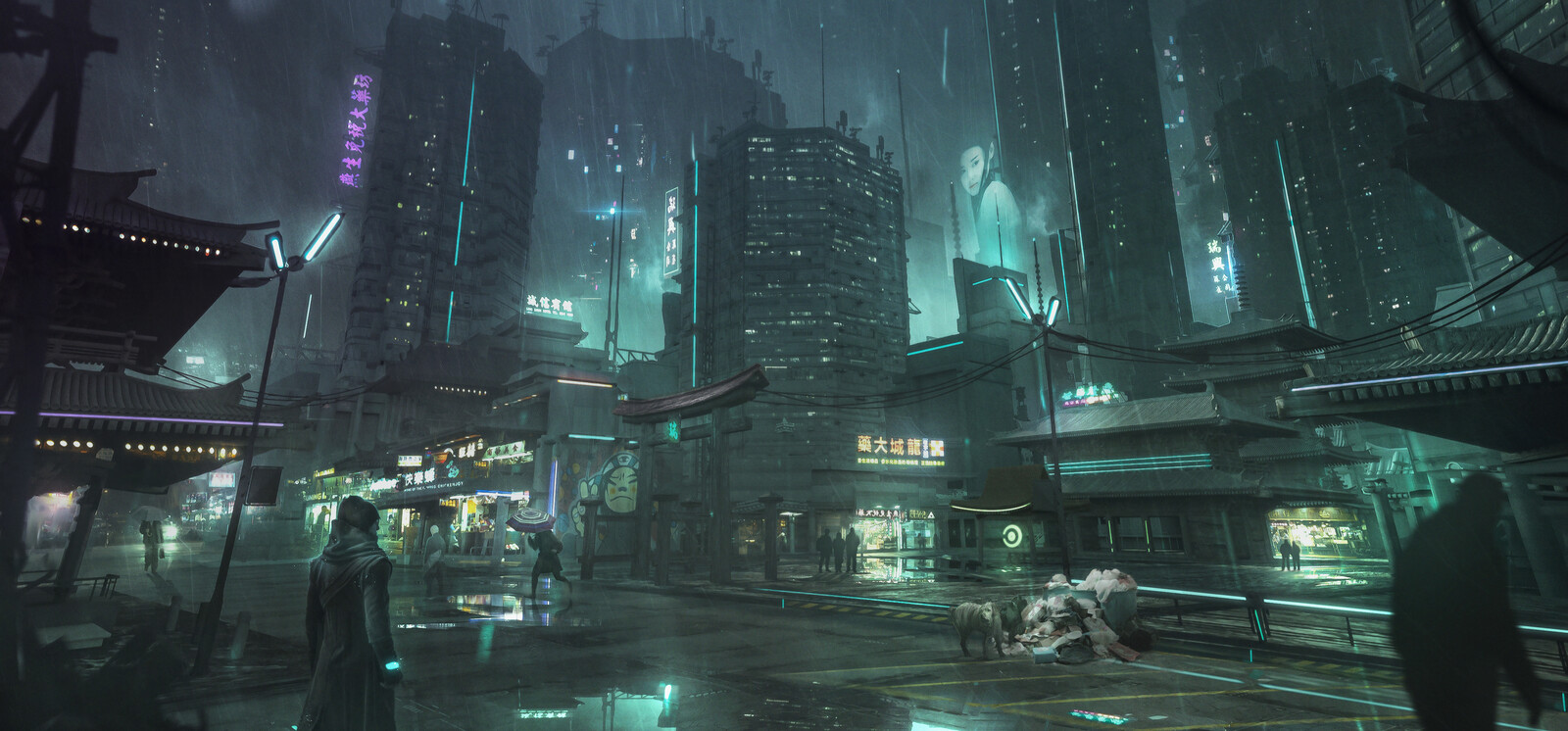 Cyber City - Concept practice.