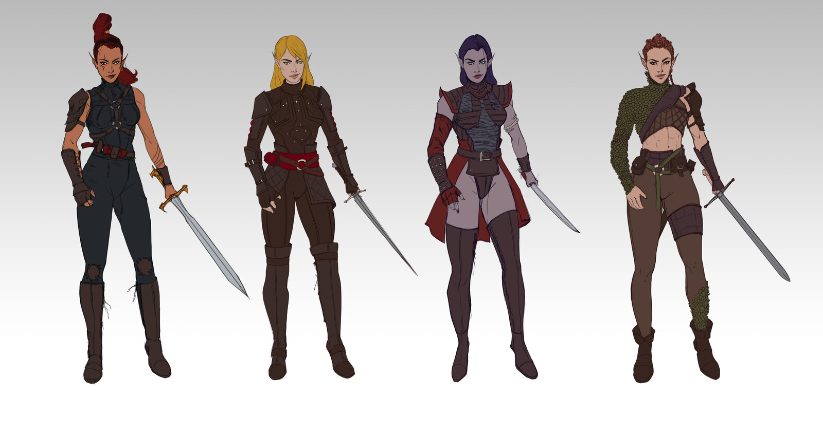 Elf Fighter - Character Line up