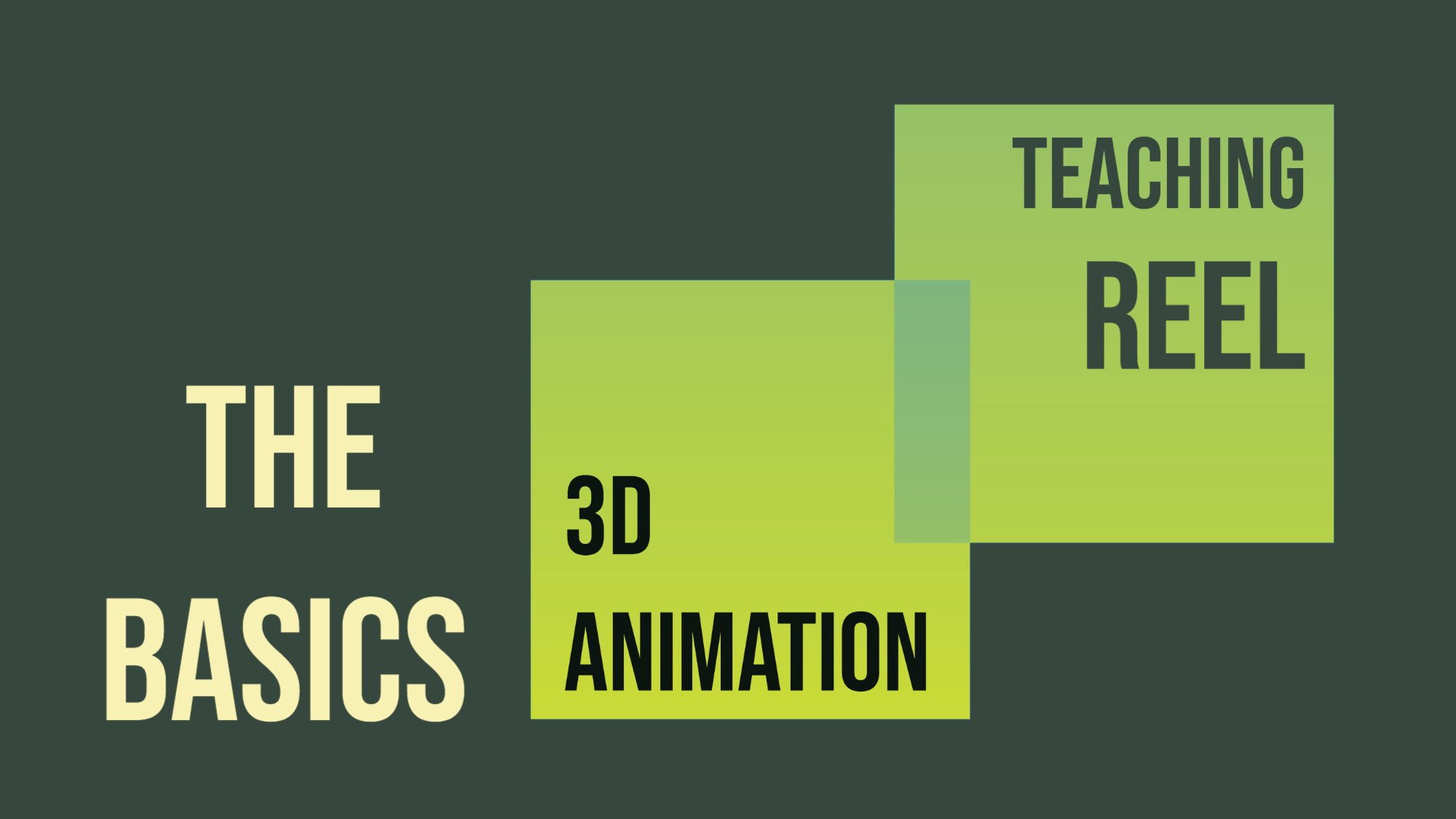 Intro to 3D Animation. Teaching Reel, with Froggy Hearth Studio from Moldova/UK