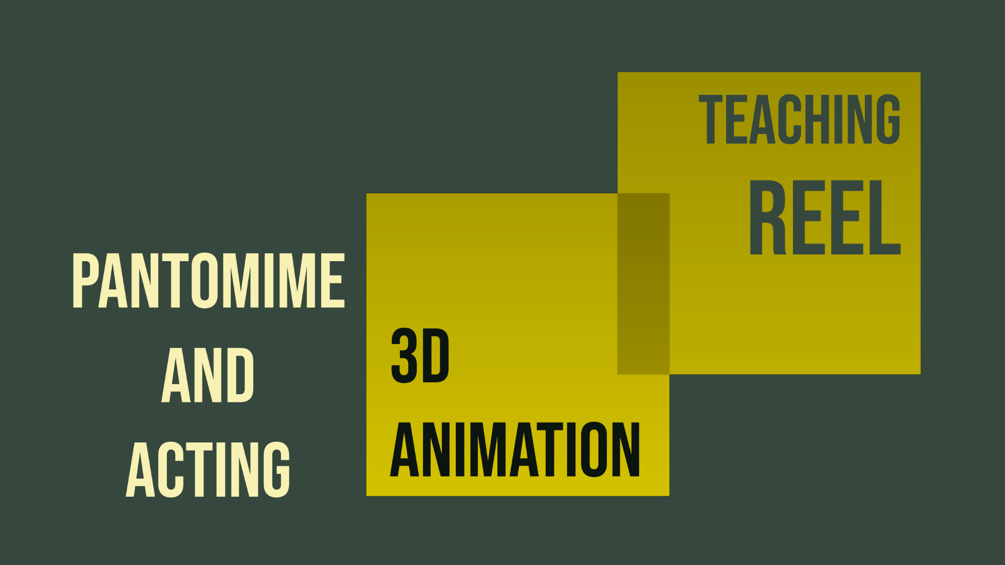 Pantomime and Acting. 3D Animation Teaching Reel, with Froggy Hearth Studio from Moldova/UK