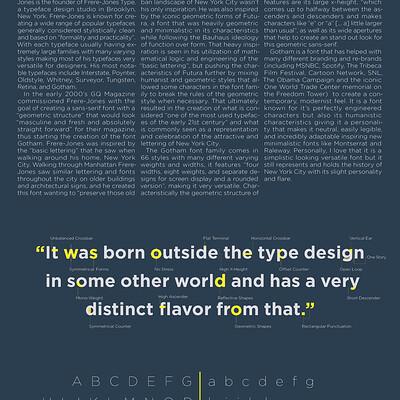 Kim timbone kim timbone gotham typeface study 3 2