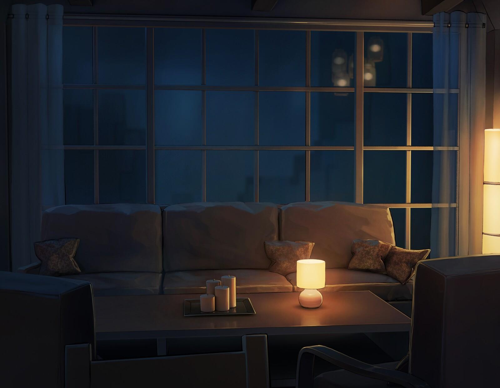 Visual novel Backgrounds - Apartment & Living room