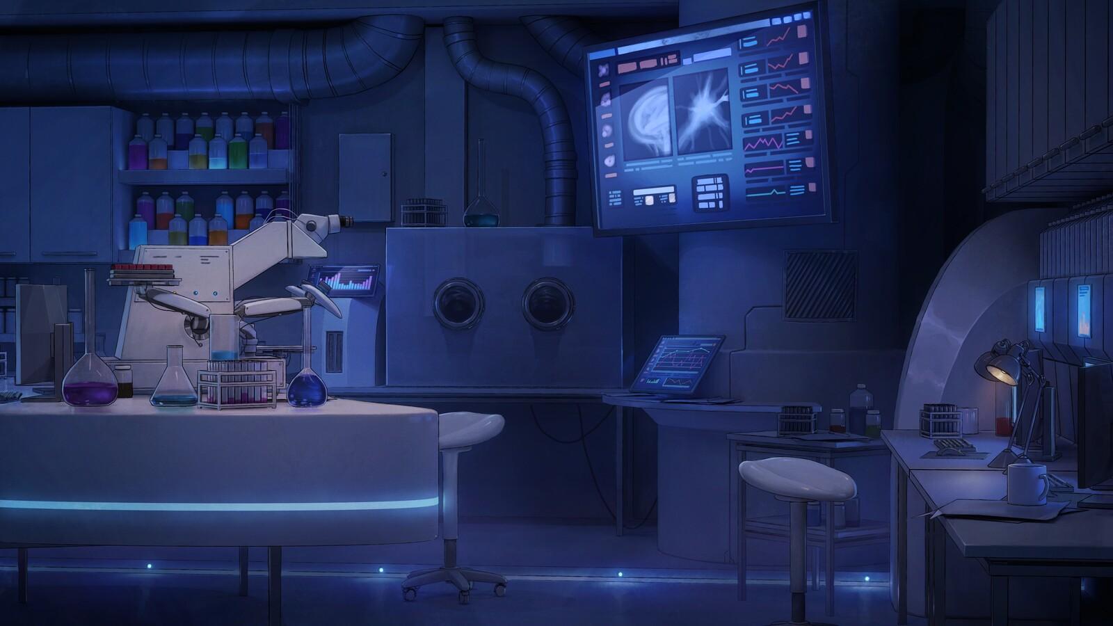 Visual novel Backgrounds - Laboratory & Control Room